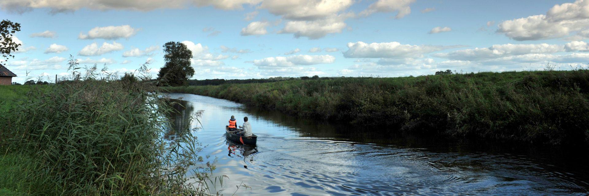 Kanu auf der Stör