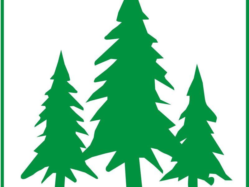 Das Signet der Radtour sind drei Tannenbäume