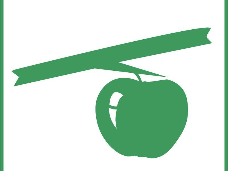 Signet der Radtour ist ein hängender Apfel