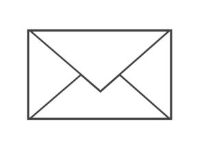 Weißer Briefumschlag