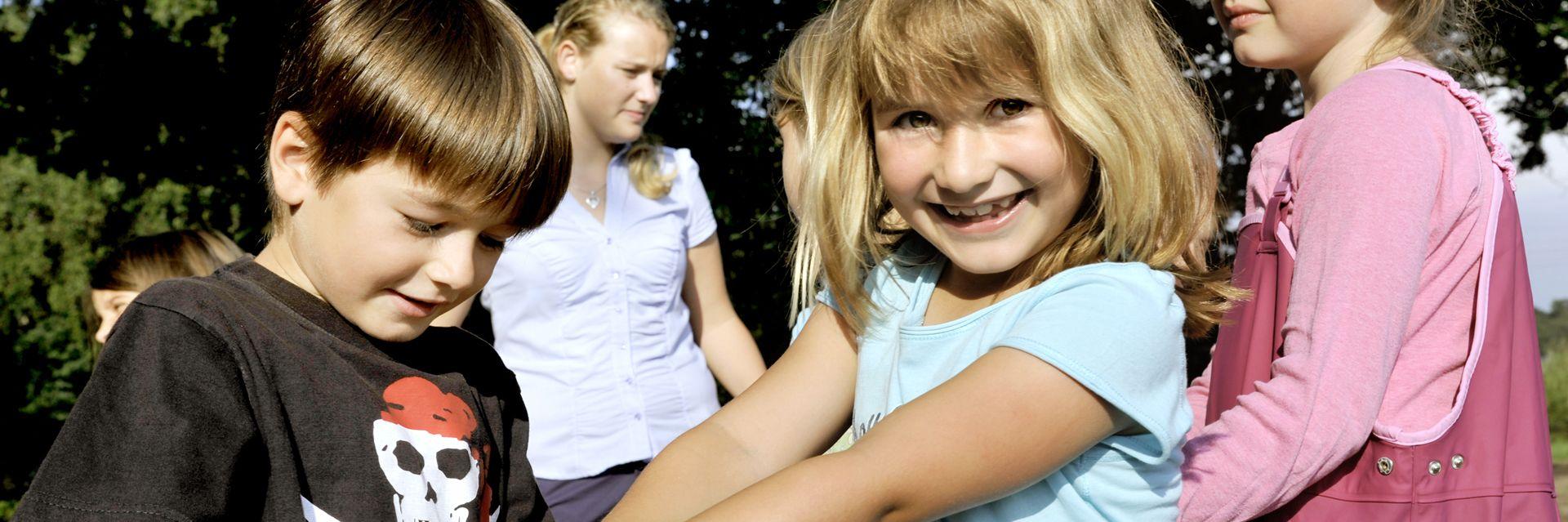 Kinder beim Hoffest