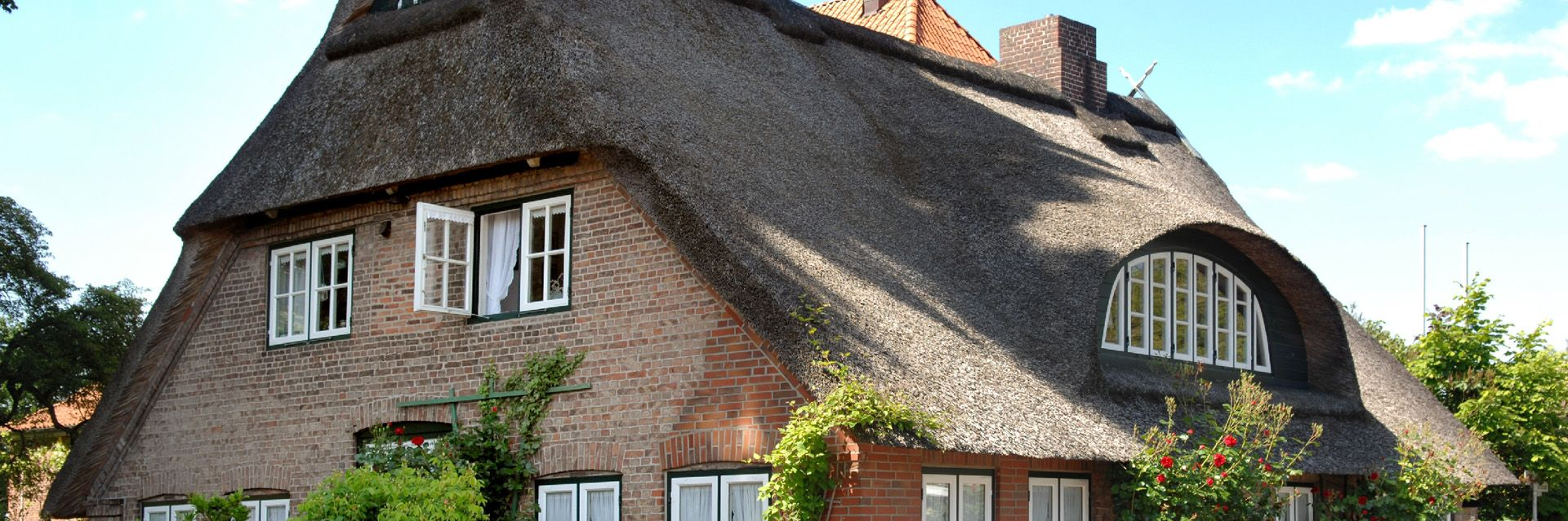 Reetdachhaus in den Elbmarschen