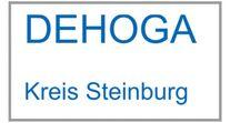 """""""Dehoga Kreis Steinburg"""" in blauer Schrift."""